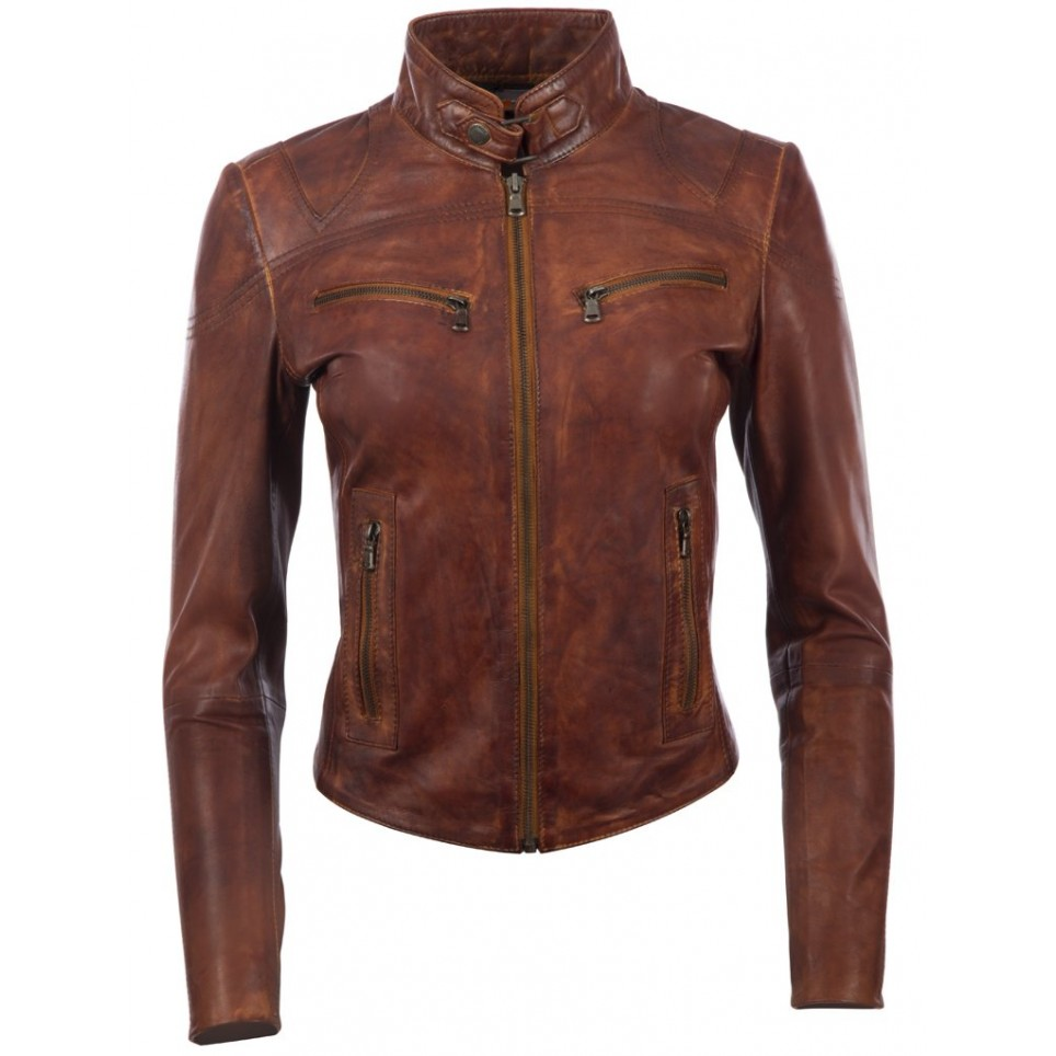 Giacca in pelle donna LM-MDK1