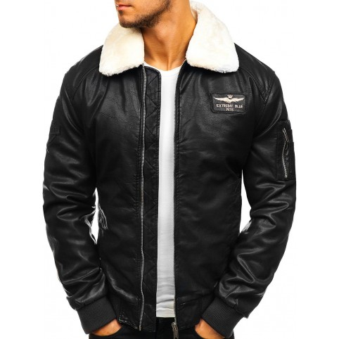 Men´s leather jacket LM-BF837