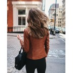Luk Muk Woman leather jacket LM-Simple